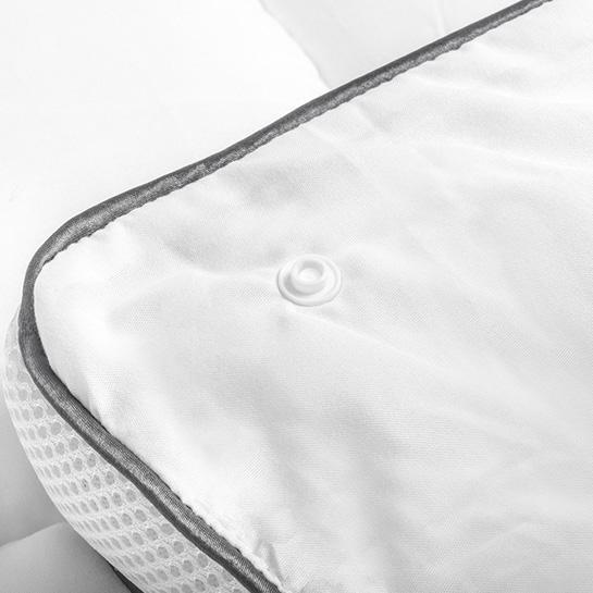3d Air Micro Touch 4 Seizoenen Dekbed White Close Up 3