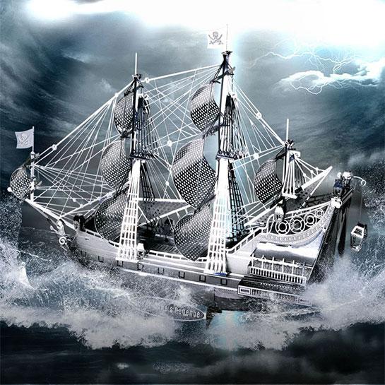 Metalen 3d Boot Sfeer