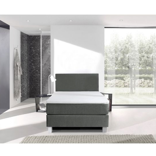 Boxspring Grijs 1 Persoons