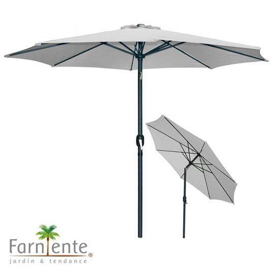 Farniente Parasol Licht Grijs ø300cm Urban Living Parasol Hoofd