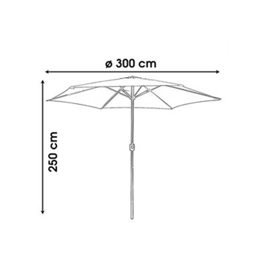 Farniente Parasol Licht Grijs ø300cm Urban Living Parasol Maten