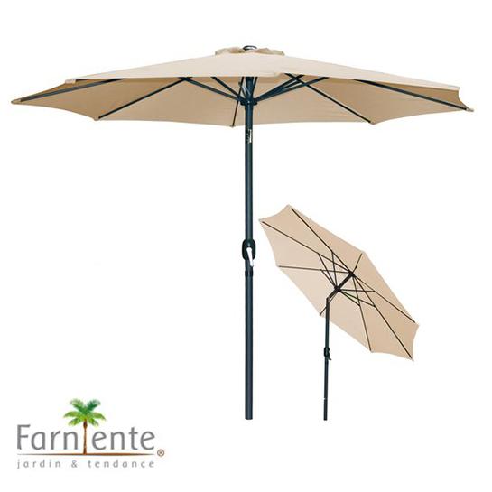 Farniente Parasol Beige ø300cm Urban Living Parasol Hoofd