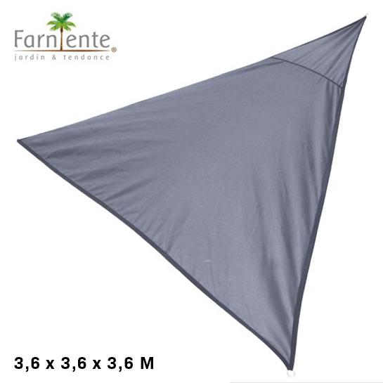 Farniente Schaduwdoek Driehoek 3,6x3,6x3,6 Antraciet