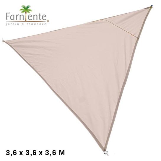 Farniente Schaduwdoek Driehoek 3,6x3,6x3,6 Beige