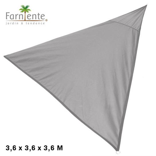 Farniente Schaduwdoek Driehoek 3,6x3,6x3,6 Grijs