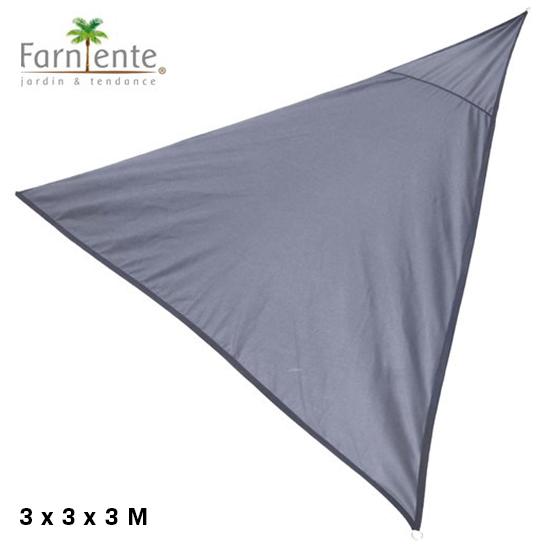 Farniente Schaduwdoek Driehoek 3x3x3 Antraciet