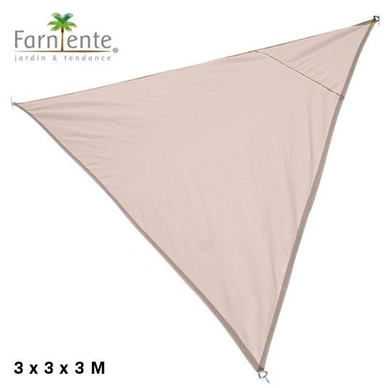 Farniente Schaduwdoek Driehoek 3x3x3 Beige