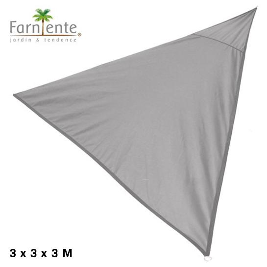 Farniente Schaduwdoek Driehoek 3x3x3 Grijs