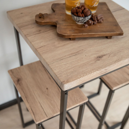 Hoge Bartafel Met 2 Barstoelen.krukken Van Urban Living Close Up 8