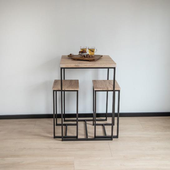 Hoge Bartafel Met 2 Barstoelen.krukken Van Urban Living Sfeer 2
