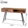 Urban Living Hampton Dressoir Metalen Onderstel Industrieel Design 545x545