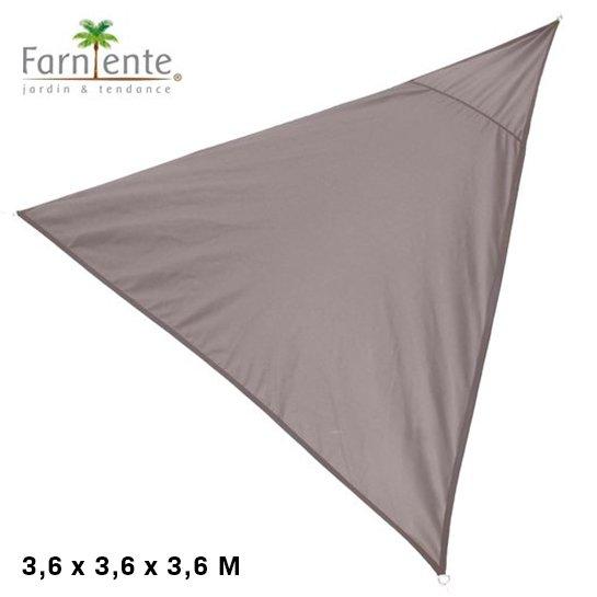 Farniente Schaduwdoek Driehoek 3,6x3,6x3,6 Taupe