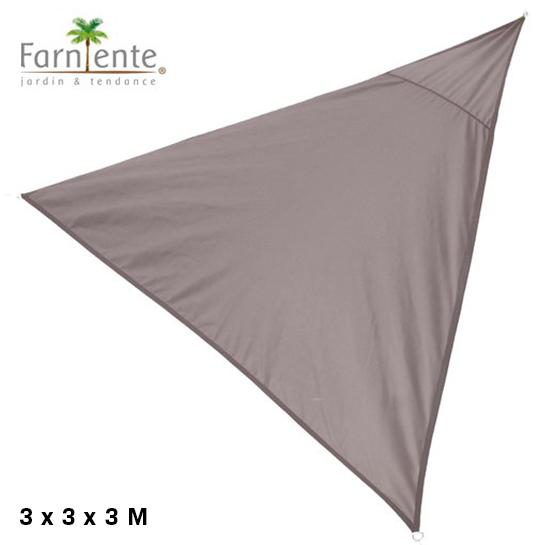 Farniente Schaduwdoek Driehoek 3x3x3 Taupe