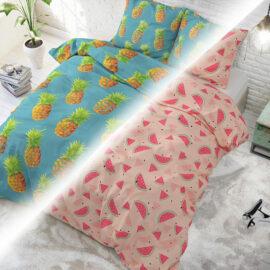 Sweet Watermelon Pink + Pineapples Blue Hoofd