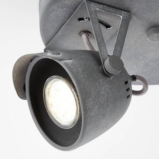 Brilliant Lamp Ka Spotrondell 2flg Grijs Beton Vrijstaand 5