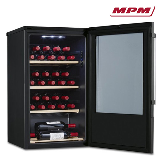 Mpm Vrijstaande Wijnkoelkast Van 107 Liter; Voor 30 Flessen Vrijstaand 2