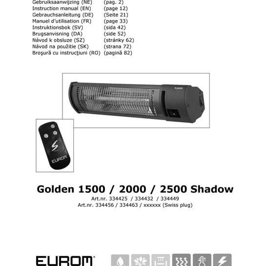 Gebruiksaanwijzing Eurom Golden 1500:2000 Shadow Hangende Terrasverwarmer 545x545
