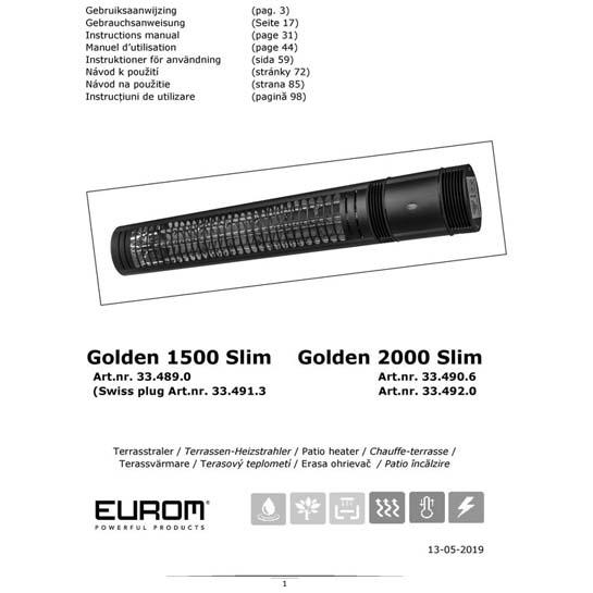 Gebruiksaanwijzing Golden 1500:2000 Slim 545x545