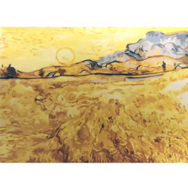 Van Gogh – Wheatfield With A Reaper – Schilderen Op Nummers