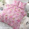 Volledig Bovenaanzicht Tropical Flamingo Pink