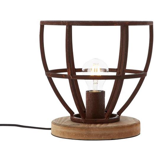 Tafellamp Matrix Wood Roest 4