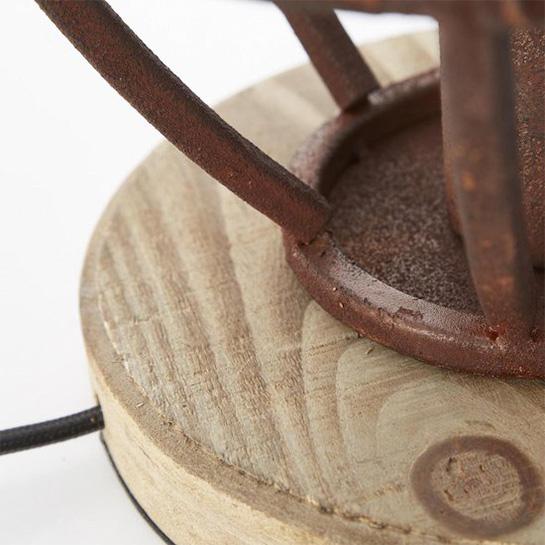 Tafellamp Matrix Wood Roest 5