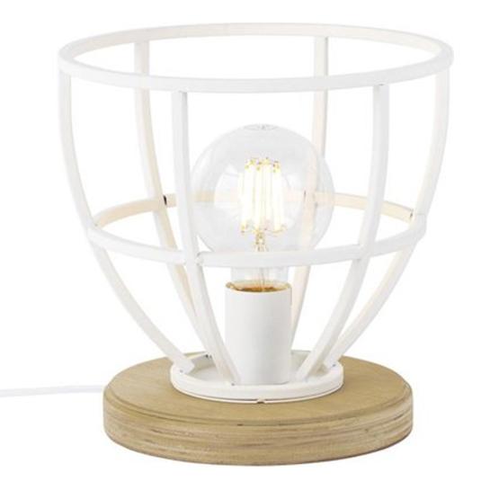 Tafellamp Matrix Wood Wit 3