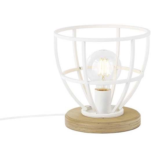 Tafellamp Matrix Wood Wit 7