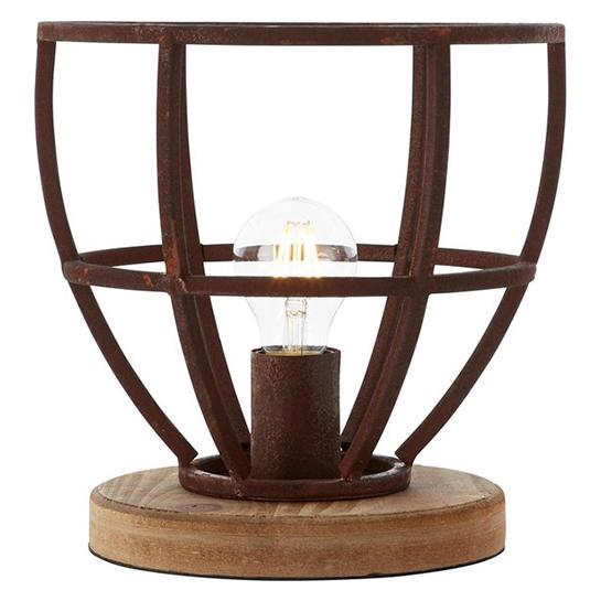 Tafellamp Matrix Wood Roest 1