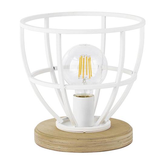 Tafellamp Matrix Wood Wit 8