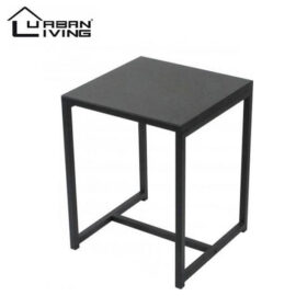 Urban Living Bijzettafel Koffietafel Side Table Vierkant Industrieel Design Metalen Blad & Metalen Frame 40 X 40 X 50 Cm 2