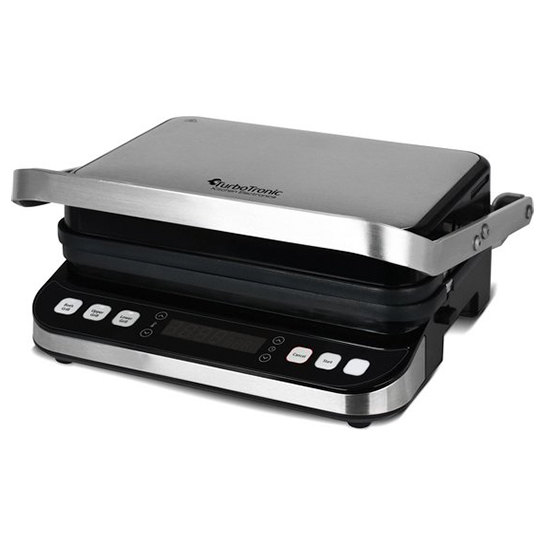 Turbotronic Tt Cg800 Digitale Rvs Contact Grill Met Led Display 1600w 1