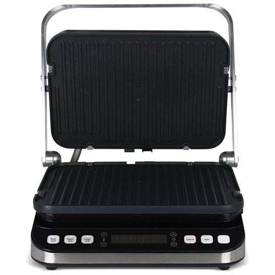 Turbotronic Tt Cg800 Digitale Rvs Contact Grill Met Led Display 1600w 3