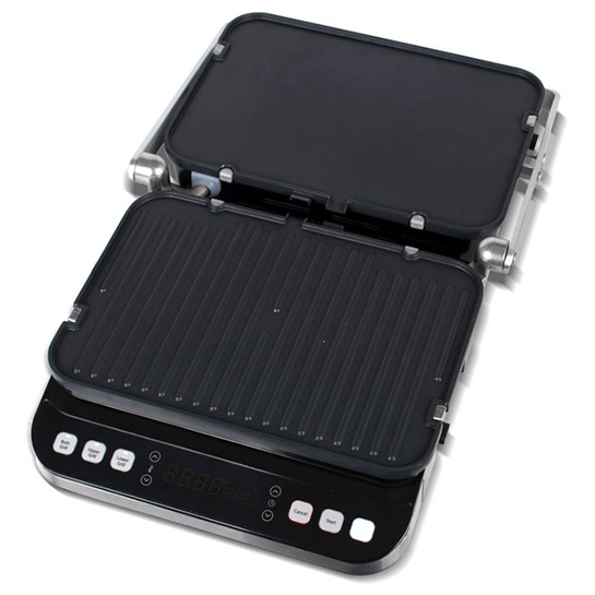 Turbotronic Tt Cg800 Digitale Rvs Contact Grill Met Led Display 1600w 4
