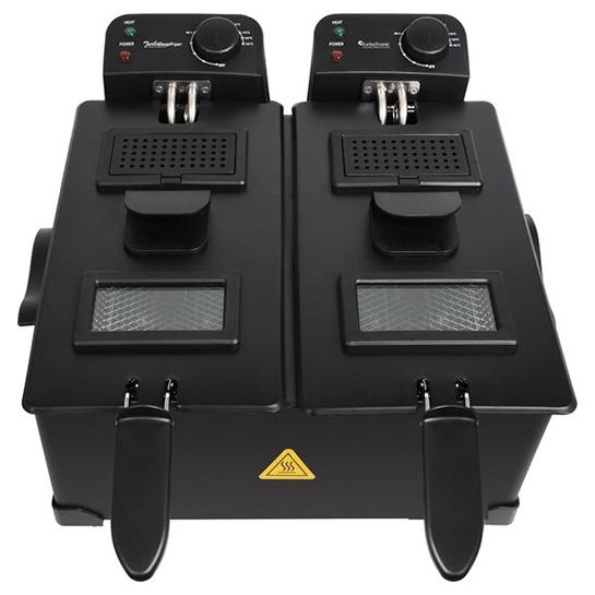 Turbotronic Df 2 Duo Dubbele Frituurpan 2x 3 Liter Zwart 1