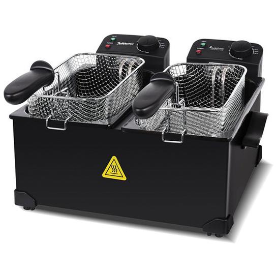 Turbotronic Df 2 Duo Dubbele Frituurpan 2x 3 Liter Zwart 11