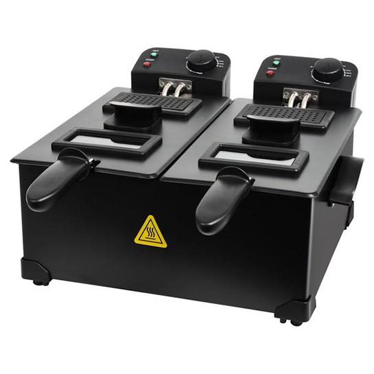 Turbotronic Df 2 Duo Dubbele Frituurpan 2x 3 Liter Zwart 3