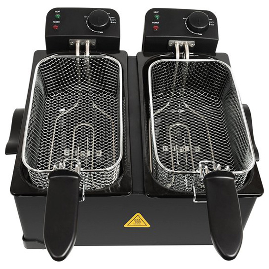 Turbotronic Df 2 Duo Dubbele Frituurpan 2x 3 Liter Zwart 7