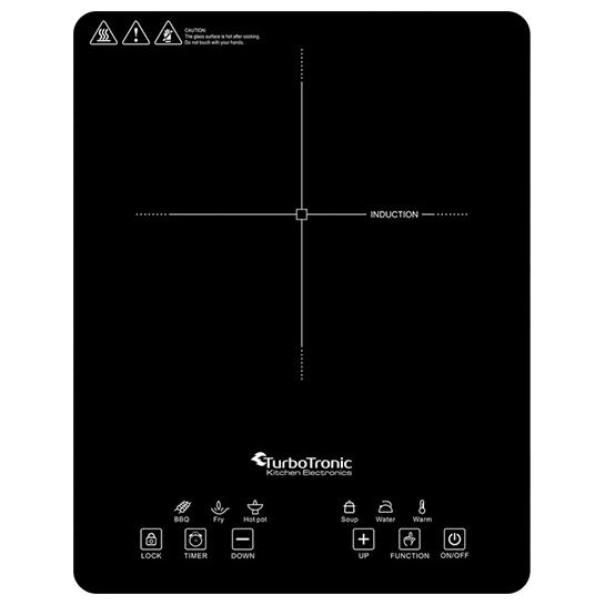 Turbotronic Ic1 Vrijstaande Inductie Kookplaat Enkele Kookzone 1 Pit 2000w 4