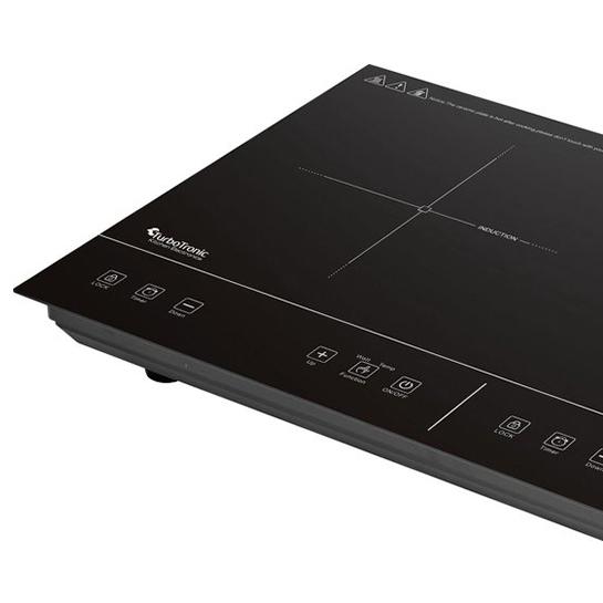 Turbotronic Ic2 Vrijstaande Inductie Kookplaat Dubbele Kookzone 2 Pits 3500w 6
