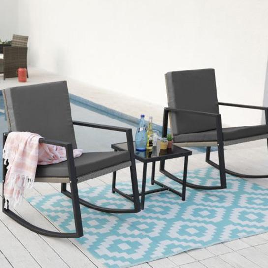 2 Luxe Schommelstoelen Incl. Tafel Mello 1