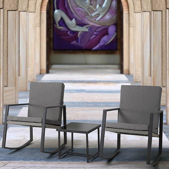 2 Luxe Schommelstoelen Incl. Tafel Mello 13
