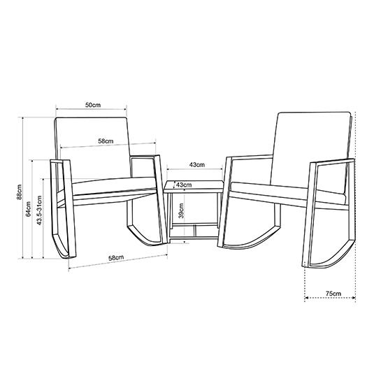 2 Luxe Schommelstoelen Incl. Tafel Mello 2