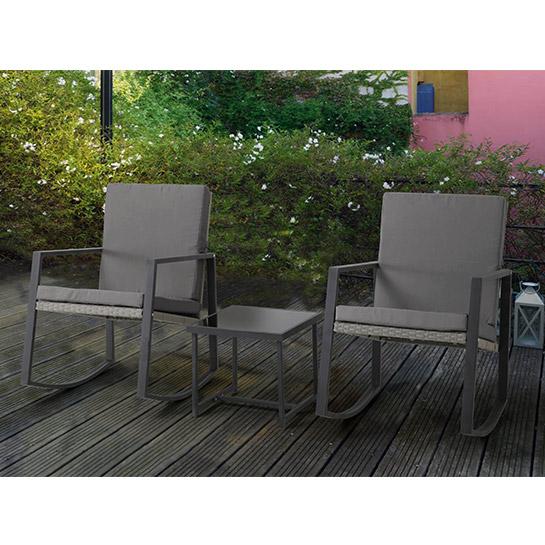 2 Luxe Schommelstoelen Incl. Tafel Mello 4