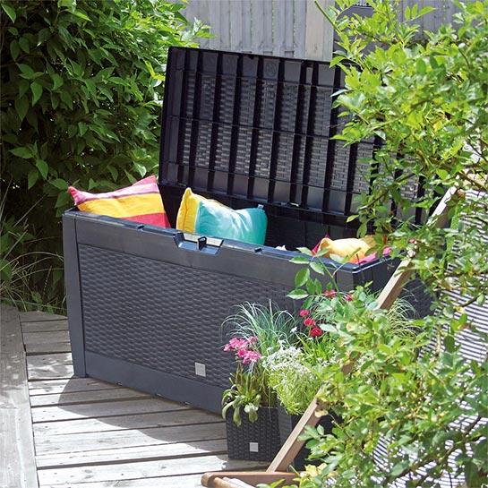 Rotan Opslagbox 119x48x60cm Antraciet 4