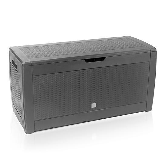Rotan Opslagbox 119x48x60cm Grijs 4