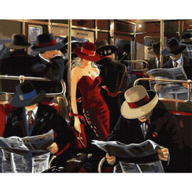 Woman In Red Schilderen Op Nummers