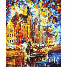 Schip In Amsterdam Schilderen Op Nummers
