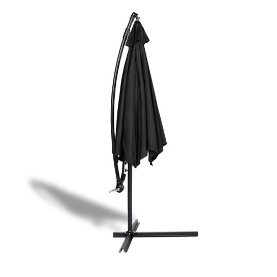Parasol Met Hoes Zwart2