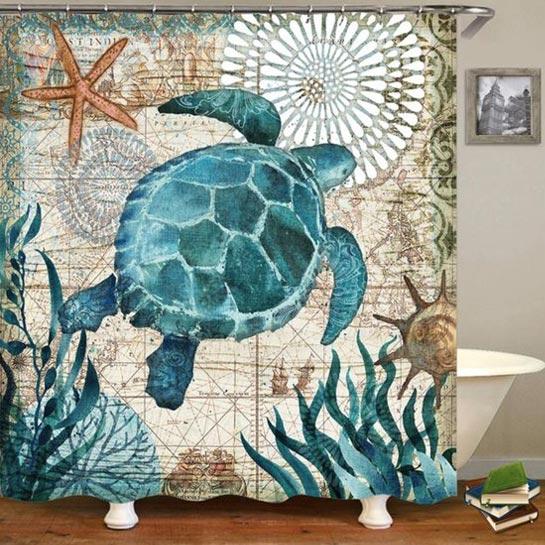 Douchegordijn Schildpad